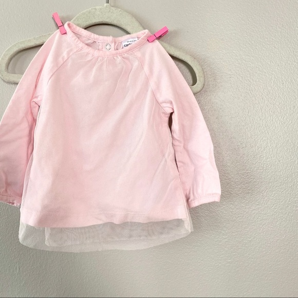 Carter's Other - 6-9 m pink tutu tulle long sleeve shirt